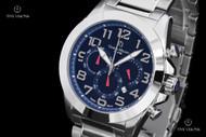 """Giorgio Milano """"972"""" Blue Dial Chronograph SS Bracelet Watch - 972ST04"""
