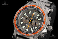 Reactor 45mm Proton World Time Gunmetal Stainless Steel Chronograph Bracelet Watch - 91610