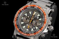 Reactor 45mm Proton World Time Gunmetal Stainless Steel Chronograph Bracelet Watch - 91610