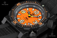 Reactor 45.5mm Titan Orange Dial Strap Watch with Never Dark Technology & 10 Year Power Cell - 43808