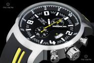 Invicta Men's 51mm S1 Rally Chronograph Yellow Stripe Silicone Strap Watch - 20216