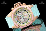 TechnoSport 40mm Womens' Stainless Steel Quartz Chronograph Silicone Strap Watch - TS-100-S37