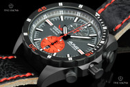 Vostok-Europe Almaz 47mm Black PVD Plated Limited Edition Leather Strap Watch - 6S11-320C260
