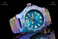 Reactor Gamma 45.5mm Ionized Finish Caribbean Blue Dial Bracelet Watch - 53999
