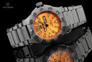 Reactor Gamma 45.5mm Gunmetal Plated Tangerine Dial Bracelet Watch - 53608