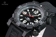 Reactor 45.5mm Titan Black Dial Strap Watch with Never Dark Technology & 10 Year Power Cell - 43801