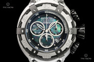 Invicta Men's 52mm Reserve Thunderbolt Swiss Chronograph Black Mother-of-Pearl Dial Bracelet Watch - 21344