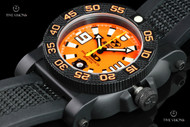 Reactor 42mm Gryphon Orange Dial Strap Watch with Never Dark Technology & 10 Year Power Cell - 73808