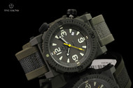 Reactor 45.5mm Titan Olive Drab Green Strap Watch with Never Dark Technology & 10 Year Power Cell - 43809