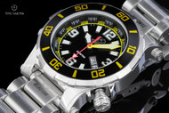 Reactor 41mm Atlas Black Dial Stainless Steel Bracelet Watch with 8 Layers Superluminova - 45007