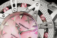 Xoskeleton Women's 41mm Superlative Star Limited Edition Pink Mother-of-Pearl Ruby Accented Bracelet Watch