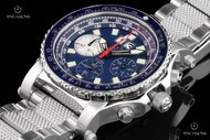 Reactor 49.25mm Valkyrie E6B Slide Rule Bezel Blue Dial Chronograph Bracelet Watch - 81003