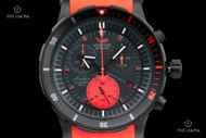 Vostok-Europe Men's 48mm Anchar Chronograph with Tritium Illumination, Extra Strap and Dry Box - 6S30-5104244