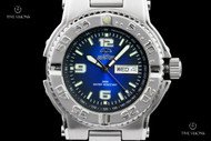 Reactor 40mm Critical Mass Black-Blue Graduated Dial Quartz Bracelet Watch - 74603
