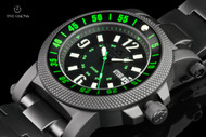 Reactor Fallout 2 45mm Nitride Coated Green Highlighted Day-Date Bracelet Watch - 56509