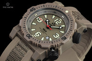 Reactor 45.5mm Titan Flat Dark Earth Strap Watch with Never Dark Technology & 10 Year Power Cell - 43821