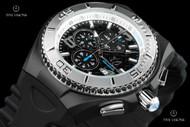 TechnoMarine Men's 46mm Cruise Jellyfish Black Dial Silicone Strap Watch - TM-115110