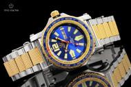 Reactor 45mm Proton World Timer Blue Dial Bracelet Watch with Never Dark Technology - 91103