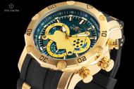 Invicta Men's 50mm Pro Diver Blue Dial Quartz Chronograph Silicone Strap Watch - 23426