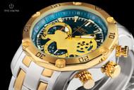 Invicta Men's 48mm Pro Diver Scuba 3.0 Blue Dial Chronograph 2-tone Bracelet Watch - 22762