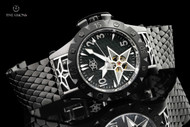 Watch Star Men's 48mm American Star Sapphire Crystal Automatic Black PVD Stainless Bracelet Watch