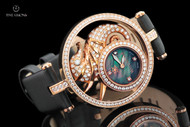 Watch Star Women's 41mm DivaStar Seahorse Swiss Made Diamond & Zirconia 18kt Rose Gold Plated Strap Watch