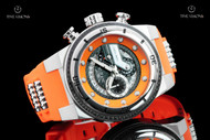 Invicta Men's 51mm S1 Rally Black Carbon Fiber Dial Chronograph Orange Silicone Strap Watch - 24222