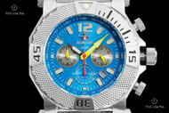 Reactor 45.5mm Neutron Bright Blue Dial 300M WR Chronograph Bracelet Watch - 93003