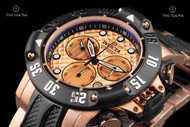 Invicta 50mm Subaqua Poseidon 18kt Rose Gold Plated Swiss Quartz Chronograph Bracelet Watch - 23806