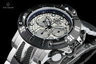 Invicta 50mm Subaqua Poseidon Stainless & Black IP Swiss Quartz Chronograph Bracelet Watch - 23804