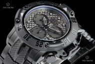 Invicta 50mm Subaqua Poseidon Black Ionic Plated Case Gunmetal Dial Swiss Quartz Chronograph Bracelet Watch - 23808