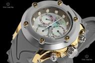 Invicta Men's 52mm Specialty Subaqua Chronograph Silicone Strap Watch w Elevated Bezel & Carbon Fiber Sides - 23931