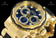 Invicta Men's 46mm Specialty Capsule Blue Dial 18kt Gold Plated Chronograph Bracelet Watch - 23979
