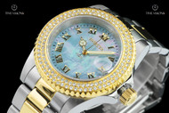 Invicta 40mm Sea Base Sapphire Crystal Light Blue MOP Dial Two-Tone Bracelet Watch - 20368