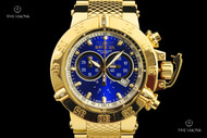 Invicta Subaqua Noma III Mirror Polished 18kt Gold Plated Swiss Chronograph Bracelet Watch - 14501