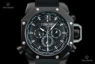 TechnoSport Men's 44mm Swiss Quartz Multifunction Aviator Style Silicone Strap Watch - TS-100-4AV