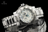 Invicta Men's 50mm Reserve Excursion White River Pearl Dial Swiss Quartz Chronograph Bracelet Watch - 15322