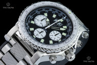 Reactor 49.25mm Valkyrie E6B Slide Rule Bezel Black Dial Chronograph Bracelet Watch - 81001