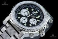 Reactor 49.25mm Valkyrie E6B Slide Rule Bezel Black Dial Chronograph Bracelet Watch - 81001