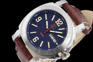 Reactor Fermi 42mm Men's Blue Dial Swiss Day/Date Leather Strap Watch - 48303