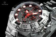 Invicta Jason Taylor Reserve Excursion Black Carbon Fiber Dial Swiss Made Chronograph Watch & Dive Case - 17841