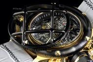 Invicta Men's Russian Diver Nautilus Swiss Mechanical ETA 6497 Leather Strap Watch - 14626