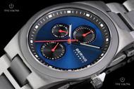 Bering Time Men's Blue Dial Ceramic Bracelet Multifunctional Quartz Watch - 32339-788
