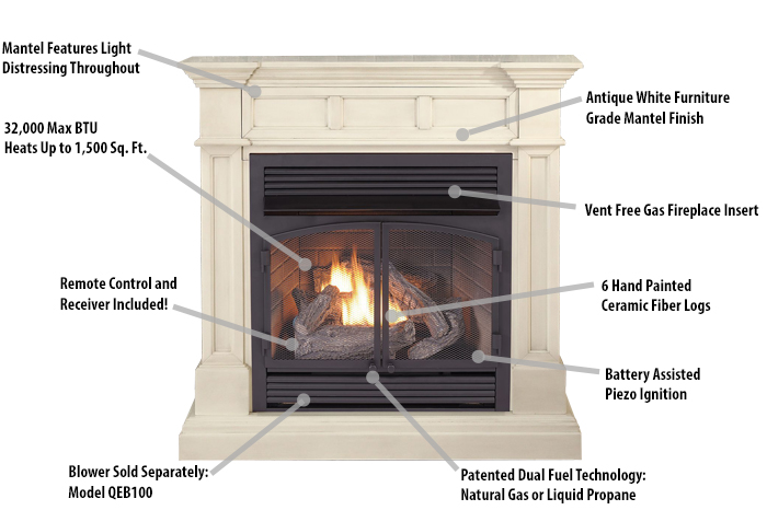 Fireplace Features  Vent Free Fireplace Insert