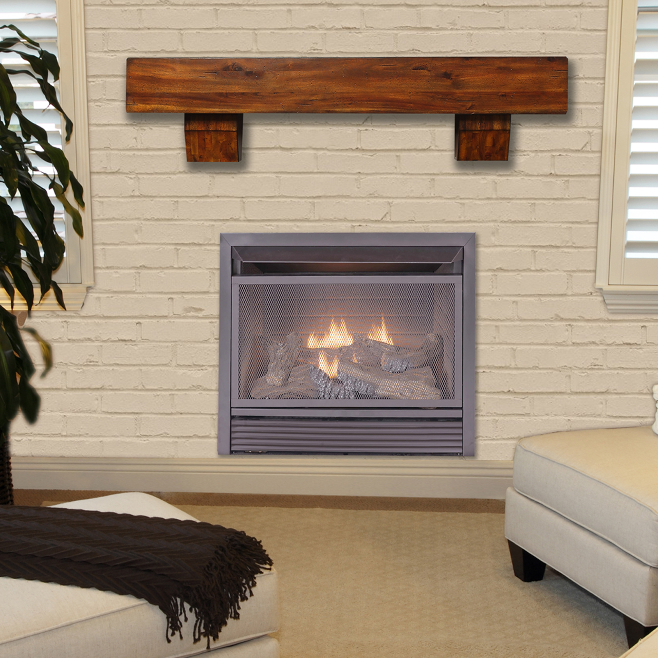 Duluth Forge Dual Fuel Ventless Fireplace Insert 26 000