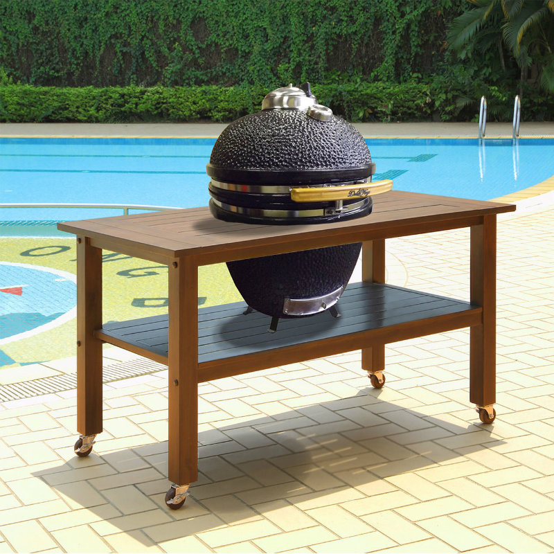 Duluth Forge 21 Inch Kamado Grill With Table