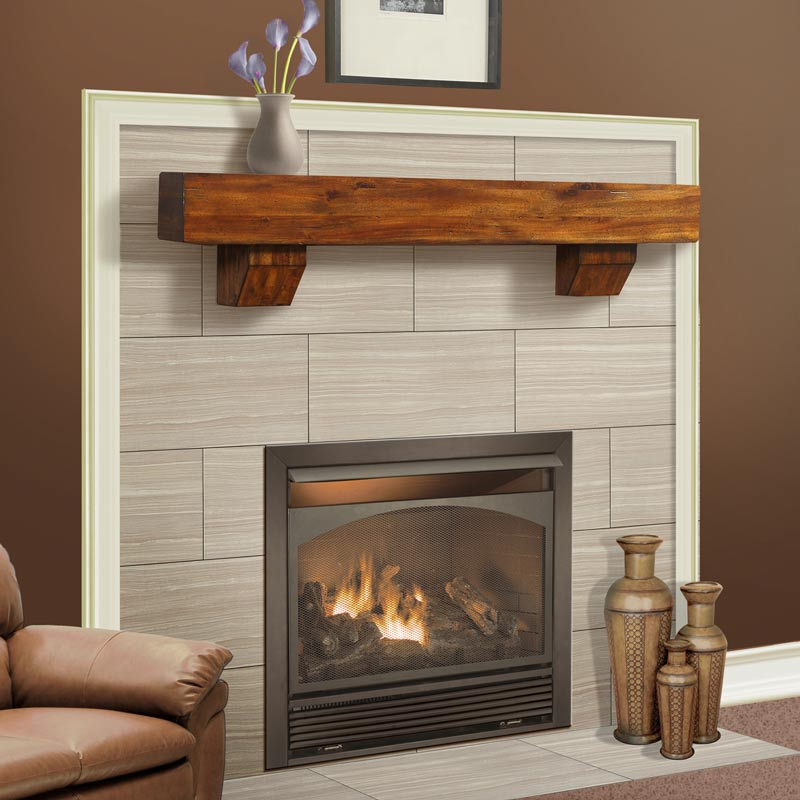 Duluth Forge Brown Mantel with Corbels