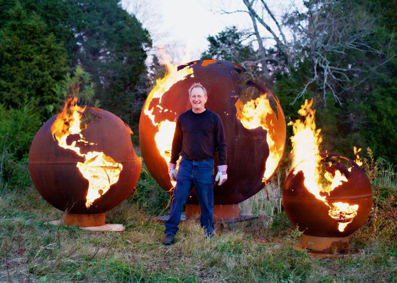 Fire Pit Art Artist Rick Wittrig