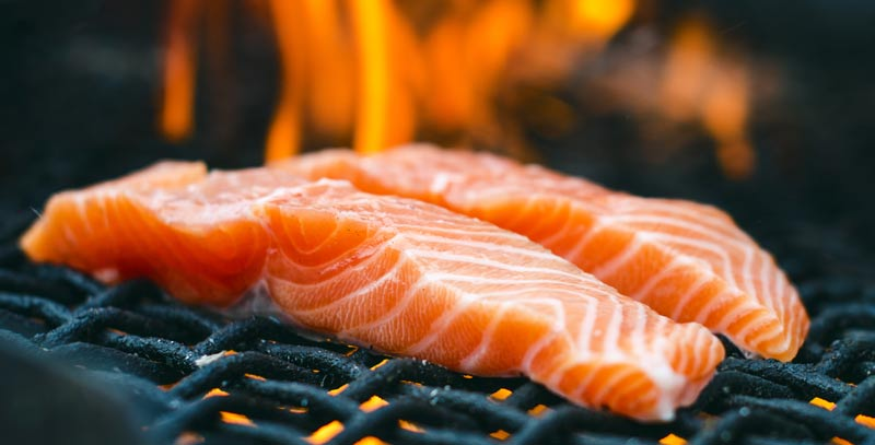 Grill Salmon on a Duluth Forge Kamado Grill