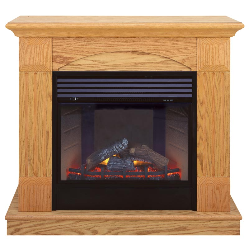 Deluxe Electric Fireplace With Remote Control - Oak Finish